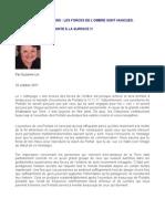 MESSAGE DES ARCTURIENS - LES FORCES DE L'OMBRE SONT VAINCUES - Dr Suzanne Lie - 16 octobre 2011