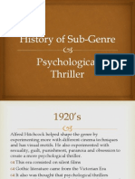History of Sub-Genre Psychological Thriller