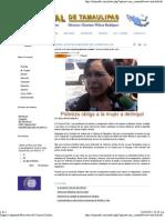 16-10-11 Pobreza Obliga a La Mujer a Delinquir