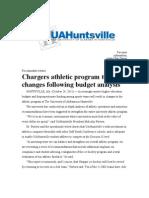 UAH Hockey News Release