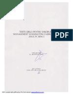 Teste Grila Management Si Marketing Farmaceutic - 2010-2011, Sem. I - Baza de Date Cu Raspuns