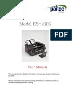 ES2000 User Manual