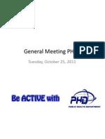 General Meeting PHD