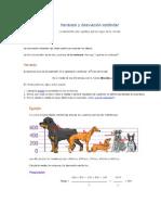 Varianza y desviación estándar