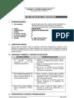 SÍLABO DE TÉCNICAS DE COMUNICACIÓN 2011-A