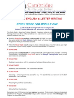 Business English & Letter Writing