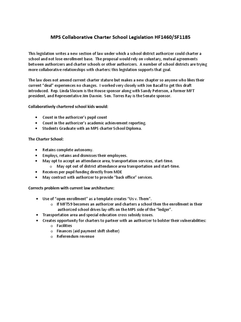 Charter School Legislation Charter School Taxes