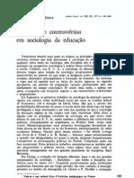 Correntes e Con Trove Rsi As Em Sociologia Educacao