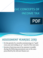 Basic Concepts of Income Tax