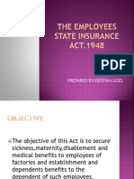 The Employees State Insurance Act
