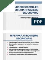 Paratiroidectomia en Hiperparatiroidismo rio