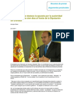 Resumen de prensa. 100 días de Gobierno. Diputación de Granada
