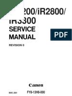 Canon iR2200 iR2800 iR3300 Service Manual