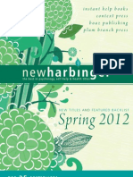 New Harbinger Spring 2012 Trade Catalog