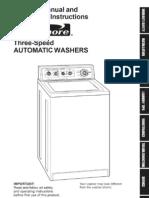 Amana Top Load Washer Service Manual Washing Machine