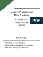 461 Risk Analysis