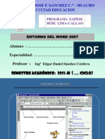 Entorno Office 2007 - Word