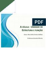 A célula - Unidade de Estrutura e função