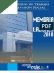 Memoria de Labores 2010, Ministerio de Trabajo de Guatemala
