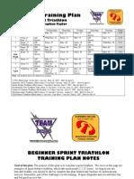 8 Week Sprint Tri Plan
