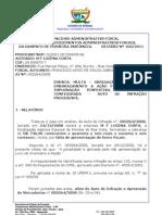 Embaraço a fiscalização - MF COSTA LUCENA DEC 160-11