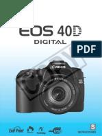 Canon Eos 40D - Manual