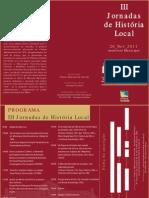 III Jornadas de História Local de Lousada Progra e Ficha de Inscrição