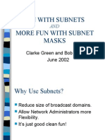 Subnetting(Fun With Subnets)