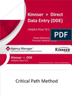 Kinnser + Direct Data Entry (DDE)