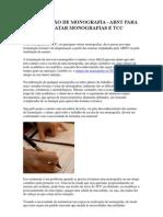 FORMATAÇÃO DE MONOGRAFIA