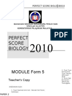 SPM Perfect Score Biology 2010-SET-1-Answer