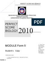 SPM Perfect Score Biology 2010-Set-3
