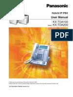 Panasonic KX-TDA100-200 User Manual