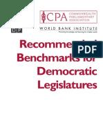 Recommended Benchmarks for Democratic Legislatures
