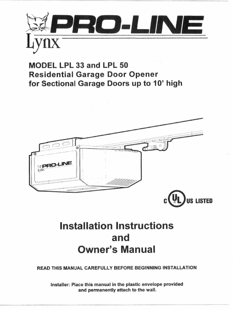 Lynx 455 Lpl Manual