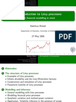 An introduciton to Levy processes with fin modelling in mind - SLIDES