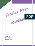 Escolas Pre Socraticas