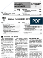 Group 7 Automatic Transmissions