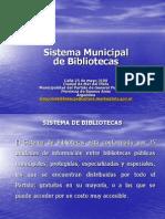 Presentación Sistema de Bibliotecas