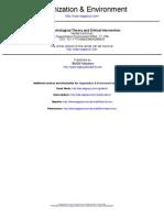 Ecopsychology Review Essay, Organization & Environment