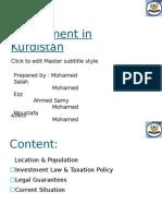 Investment in Kurdistan