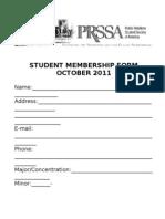 PRSSA Membership Form