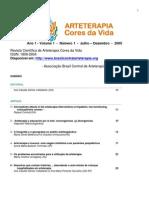 1º Volume Revista Científica de Arteterapia Cores e Vida