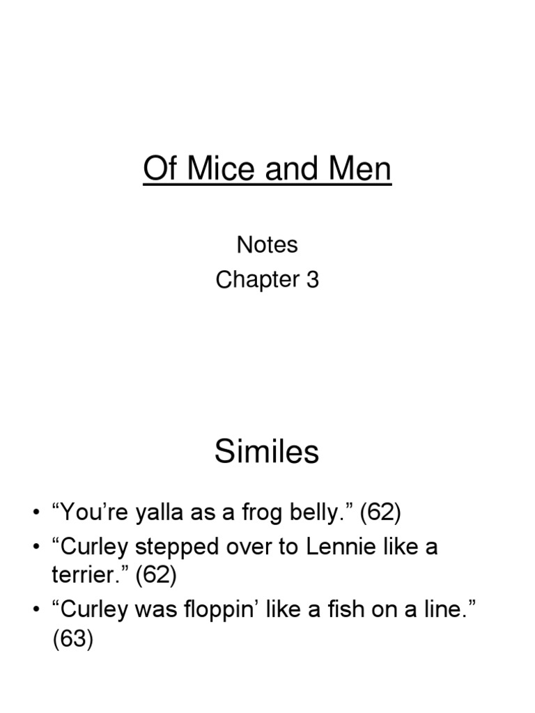 Worksheets Of Mice And Men Worksheet of mice and men chapter 3 notes