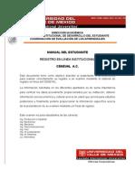 MANUAL DEL ESTUDIANTE Ceneval Registro en Linea Institucional