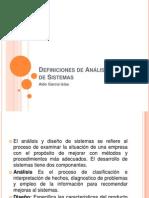 Definiciones de Análisis y Diseño de Sistemas