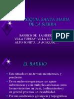 Presentación PARROQUIA SANTA MARIA DE LA SIERRA