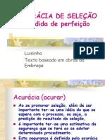 30-ACURÁCIA DE SELEÇÃO