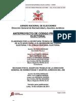 ANTEPROYECTO DE CÓDIGO PROCESAL ELECTORAL