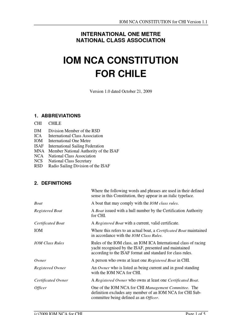 IOM NCA Constitution RK 1word2003   Committee   Fee